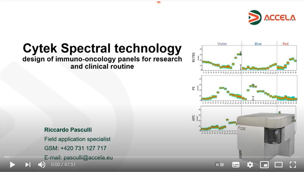 Posnetek webinarja Cytek Spectral Technology: Design of immuno-oncology panels for research and clinical routine